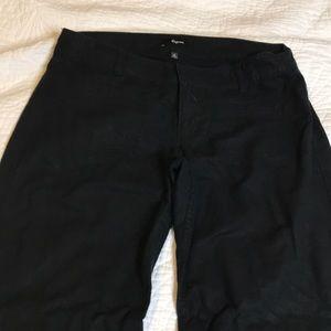 Black Linen Wide Legged Trousers